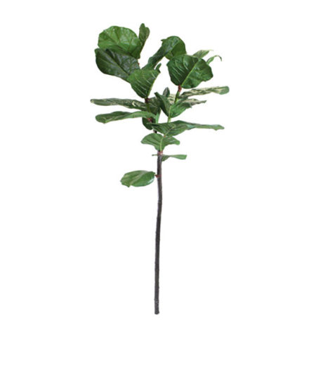 Realistic looking artificial fake tree used in offices, home and plantscaping for sale and bulk purchase online - fiddle leaf branch