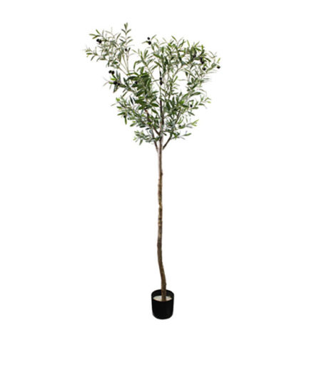 Realistic looking artificial fake tree used in offices, home and plantscaping for sale and bulk purchase online - FRUIT-TREE-OLIVE