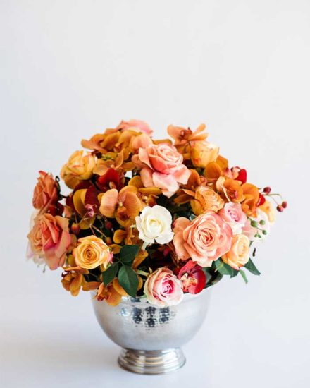 MIXED ROSES AND ORCHID POSIE