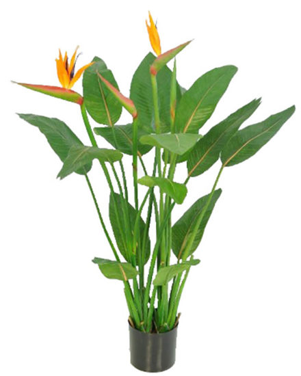STRELITZIA fake artificial silk house plant for use in office and plantscaping for sale and bulk purchase online.