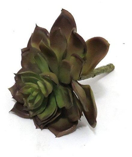 Realistic looking artificial succulent plant for sale and bulk purchase online - rock rose green brown
