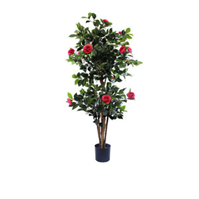 Realistic looking artificial fake tree used in offices, home and plantscaping for sale and bulk purchase online - FLOWERING-TREE-CAMELIA-PINK