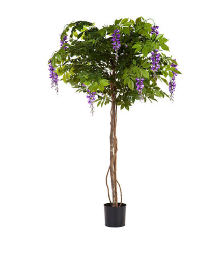 Realistic looking artificial fake tree used in offices, home and plantscaping for sale and bulk purchase online - FLOWERING-TREE-WISTERIA