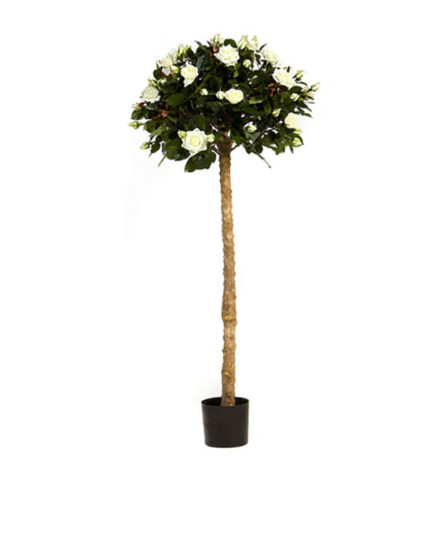 Realistic looking artificial fake tree used in offices, home and plantscaping for sale and bulk purchase online - rose tree