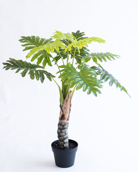 Realistic looking artificial fake tree used in offices, home and plantscaping for sale and bulk purchase online - PHILODENDRON